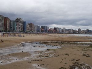 Beaches in Gijon (Spain)