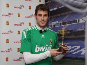 Iker Casillas with a cup