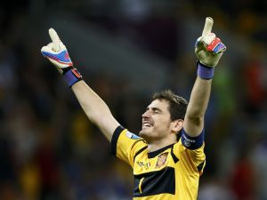 Iker Casillas with eyes closed