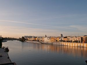 The Guadalquivir river as it passes through the Triana district