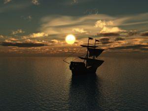Ship adrift