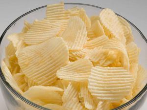 Wavy potatoes chips