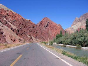 The Karakoram road in Xinjiang