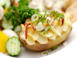 Roasted potato with vegetables