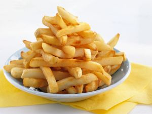 Plate with french fries