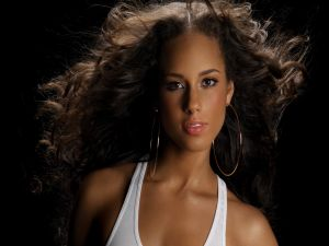 The singer Alicia Keys
