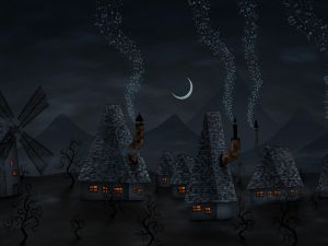 Village with musical chimneys