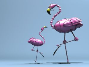 Flamingos robot