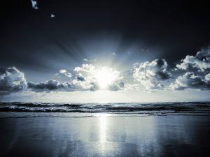 Sunlight reflected on the sea