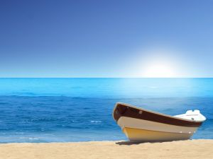 Boat on the sea shore
