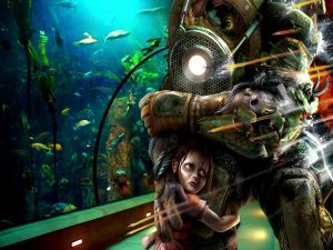 "Big Daddy and Little Sister ""Bioshock"""