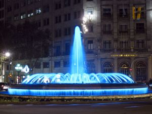 Ornamental fountain in Paseo de Gracia (Barcelona)