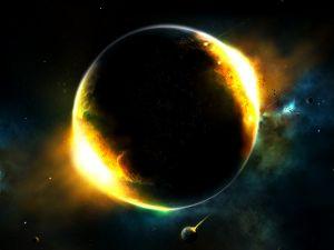 Incandescent planet