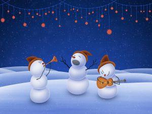 Snowmen singing