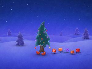 A walking Christmas tree