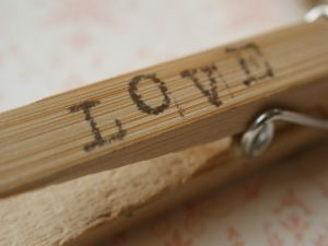 Love on a clothespin