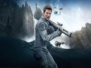 "Tom Cruise in the movie ""Oblivion"""