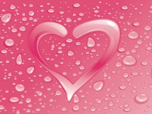 Water pink heart