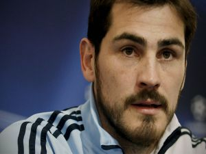 A closeup of Iker Casillas