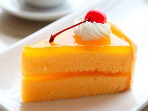 Portion of sponge cake