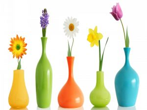 A flower in each vase