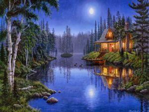 """""""Moonlight Serenade"""", painting by Mark Daehlin"""