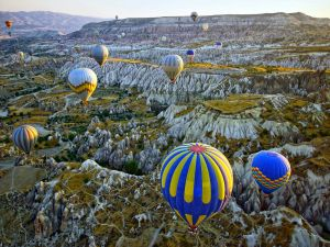 Hot air ballooning in Cappadocia, Central Anatolia (Turkey)