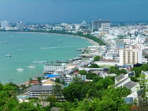Panoramic view of the city of Pattaya, Thailand