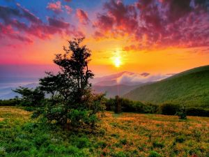Sunset on North Carolina