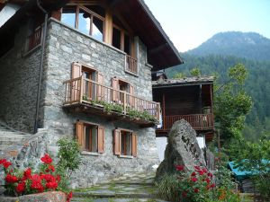Typical house in the Aosta Valley (Italy)
