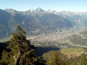 View of Aosta Valley (Italy)