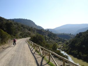 Greenway next to the river Guadalete