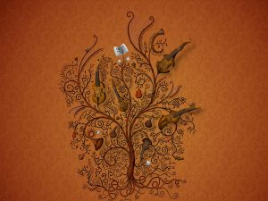 Tree of musical instruments