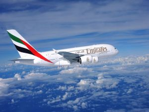 Airplane of United Arab Emirates airline
