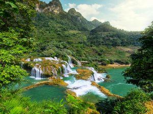 Crystalline waterfalls