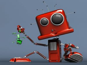 A bully robot
