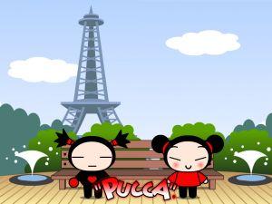 Pucca and Garu in Paris