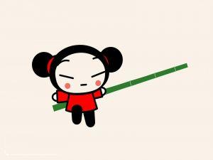 Pucca with open arms