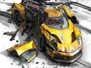 """Car destroyed in """"Burnout"""""""