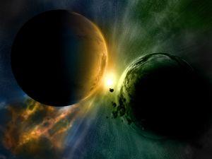 Imminent planetary collision