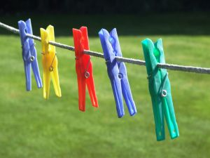 Hanging clothespins