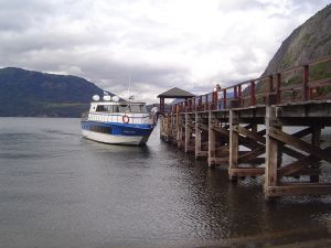 Don Lucas pier, Quila Quina, Lanín National Park (Argentina)