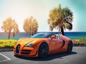Orange Bugatti Veyron