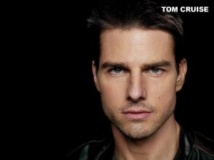 Intense look of Tom Cruise