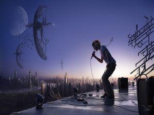 A futuristic concert