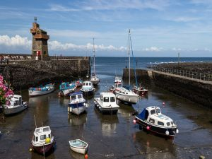 Lynmouth Harbour, Devon, England