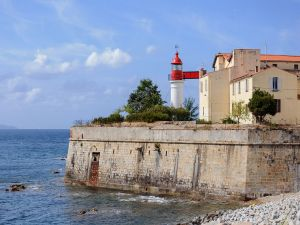 The lighthouse of the citadel of Ajaccio, at southern Corsica, France