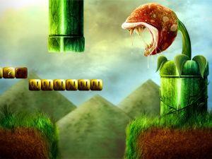 """Carnivorous plant """"Super Mario Bros"""""""