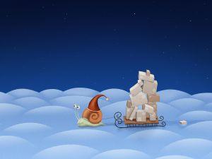 Snail sleigh