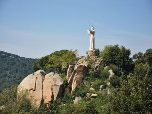 Statue of the Sacred Heart of Teia, Catalonia (Spain)